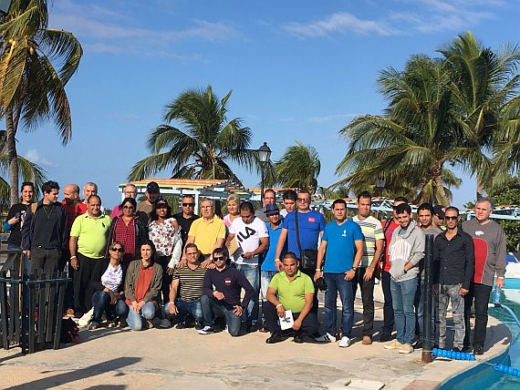 Participants in the first workshop on Playa Girón, Cuba